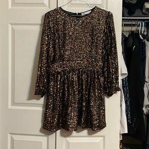 Zara mini sequin dress.